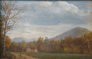 Lauren Sansaricq, Autumn Afternoon. Oil on artist's board, 8 x 12 in.