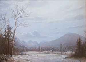 Lauren Sansaricq, Winter Afternoon, View of Carter Notch, NH. Oil on canvas, 14 x 19 in.