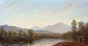 Lauren Sansaricq, View of Mt. Madison from the Androscoggin River, 2012. Oil on artist's board, 7 ½ x 14 in.