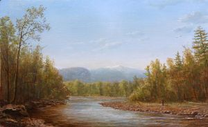 Lauren Sansaricq, View of Mt. Washington from the Saco River, 2012. Oil on artist's board, 10 x 16 in.